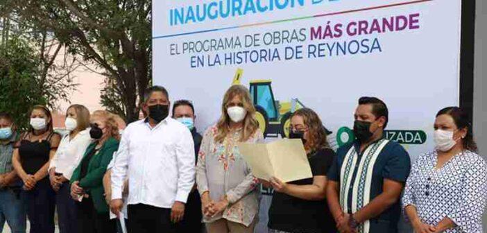 Transforman a Reynosa obras municipales por 60 MDP inauguradas en un día